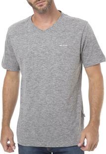 Camiseta Manga Curta Masculina Vels Cinza - Masculino