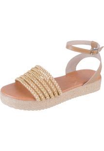 Sandália Flatform Jurerê Mercedita Shoes Areia