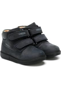 Geox Kids Ankle Boot Com Velcro - Azul