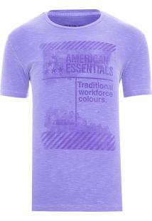Camiseta Masculina Traditional Workforce - Roxo