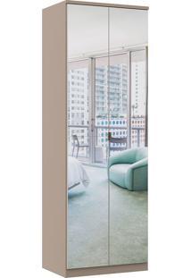 Módulo Com 2 Portas Com Espelho E 2 Gavetas Elegance 4221A-Móveis Castro - Nacar