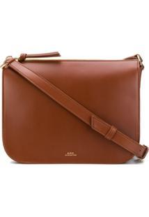A.P.C. Stephanie Crossbody Bag - Marrom