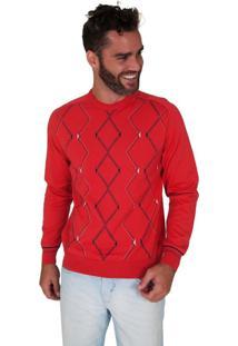 Blusa G'Dom Laranja Frente Geométrica