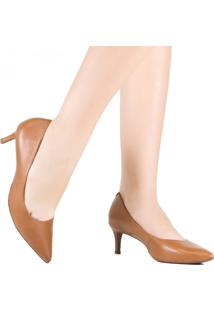 Sapato Scarpin Bico Fino Salto Baixo