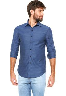 Camisa Handbook Reta Florival Azul