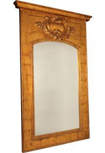 Espelho Decorativo Clássico Montreul De Parede Com Moldura De Madeira Dourada