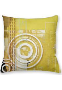 Capa De Almofada Decorativa Own Amarelo Abstrato 45X45 - Somente Capa