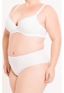 Sutiã Bojo De Microfibra Plus Size - Branco 2 - 1Xl