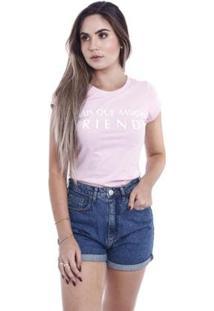 Camiseta Coca-Cola Feminina - Feminino-Rosa