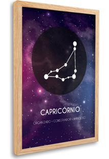 Quadro Oppen House Signos Capricórnio Zodíaco Horóscopo Natural E Vidro Decorativo