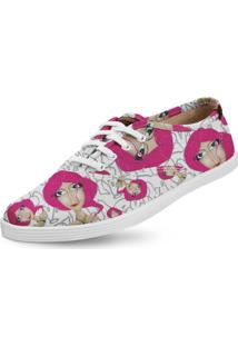 Tênis Usthemp Amy Vegano Casual Art Lolita Pink Branco