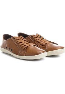 Sapatênis Shoestock Couro Ii Masculino - Masculino-Marrom Claro