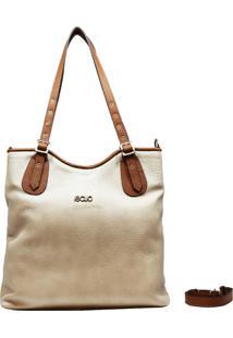 Bolsa De Couro Recuo Fashion Bag Sacola Cacau Caramelo