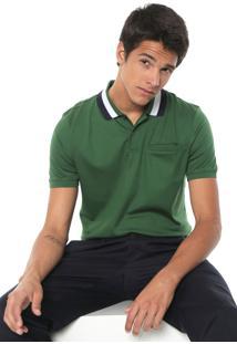 Camisa Polo Banana Republic Reta Luxury Touch Verde