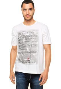 Camiseta Vila Romana Estampada Off-White