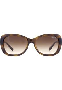 Óculos De Sol Vogue Twist Vo2943Sb W65613-55 Feminino - Feminino-Marrom