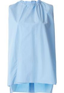 Marni Blusa Com Franzido Na Gola - Azul