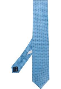 Salvatore Ferragamo Gravata De Seda - Azul