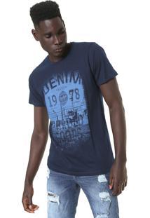 Camiseta Fiveblu Vintage Azul