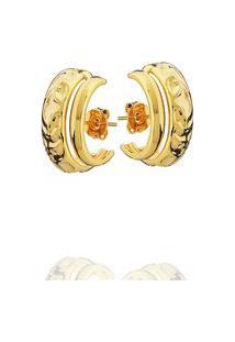 Brinco Daiany Hank Ear Hook Irregular Dourado