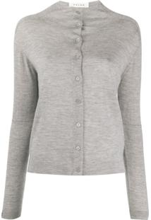 Falke Cashmere Button-Down Cardigan - Cinza