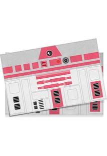 Jogo Americano Robo R2D2 Rosa Star Wars - 2 Pecas