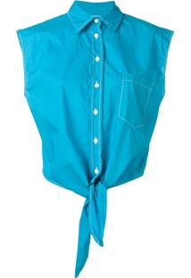 P.A.R.O.S.H. Blusa Cropped - Azul