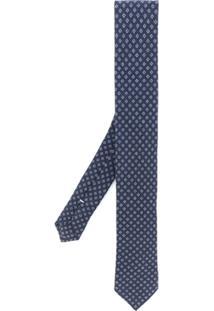 Eleventy Gravata Estampada - Azul