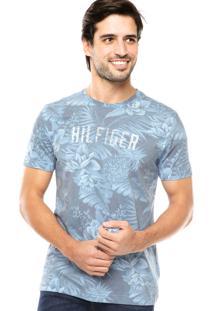 Camiseta Tommy Hilfiger Folhas Azul