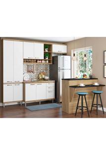 Cozinha Compactas Com Tampo 5 Peças 5845 Sicília - Multimóveis - Argila / Branco