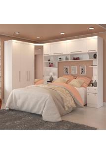 Quarto Modulado Casal 5 Peças 0011Ma-Móveis Castro - Branco