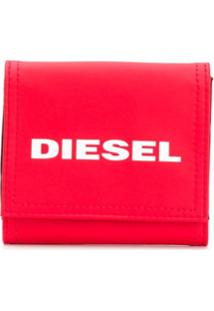 Diesel Carteira Lanyard - Vermelho