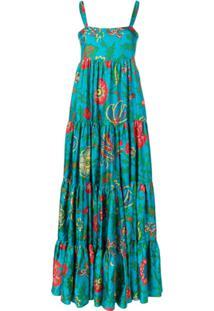La Doublej Vestido De Seda - Azul