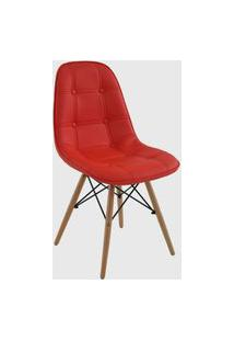 Cadeira Eiffel Sem Braço Botone Vermelha Rivatti