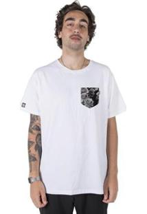 Camiseta Stoned Fake Pocket Flowers Masculina - Masculino