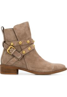 See By Chloé Strap-Embellished Ankle Boots - Neutro