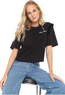 Camiseta Cropped My Favorite Thing(S) Pelo Preta