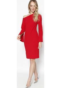 Vestido Ombro ÚNico Texturizado - Vermelhocalvin Klein