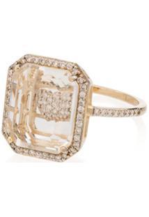 Mateo Anel De Coração De Ouro 14K Com Diamantes - Gold