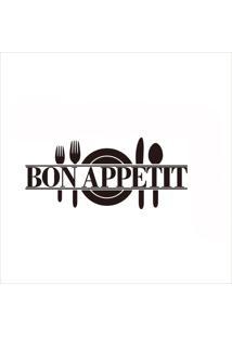 Adesivo De Parede Divanet Bon Appetit Preto - Preto - Dafiti