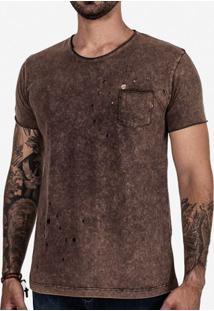 Camiseta Destroyed Stone Chocolate 102733