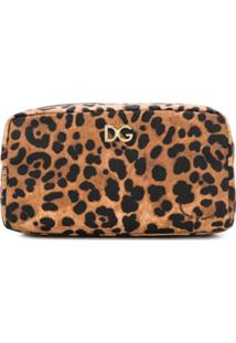 Dolce & Gabbana Necessaire Animal Print - Marrom