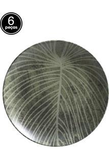 Jogo De Pratos Rasos 6 Pçs Coup Herbarium Porto Brasil