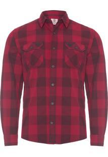Camisa Masculina New Hampshire - Vermelho