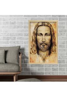 Quadro Love Decor Com Moldura Jesus Madeira Clara Médio