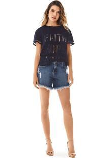 Bermuda Morena Rosa Comfort Barra Desfiada Jeans - Jeans - Feminino - Dafiti