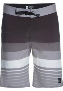Bermuda Quiksilver Boardshort Caliber - Masculino-Cinza+Preto