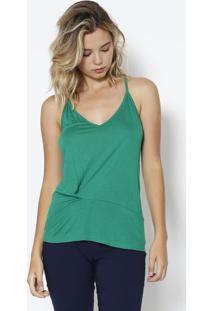 Blusa Lisa Com Recorte - Verde - Colccicolcci