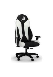 Cadeira Gamer Corsair Tc60 Fabric, Até 124Kg, Braço 3D, Preto/Branco - Cf-9010037-Ww