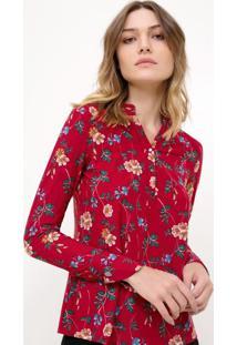 Camisa Em Jersey Floral